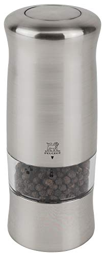(Peugeot 24079 Zeli Electric 5.9 Inch Pepper Mill, Brushed Chrome )