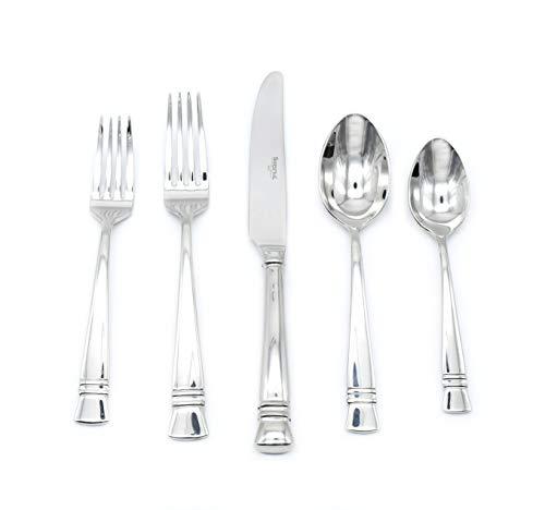 Barenthal Antibes 20-piece 18/10 Stainless Steel Silverware Set (Dinner Fork, Salad Fork, Knife, Spoon, Teaspoon) in…