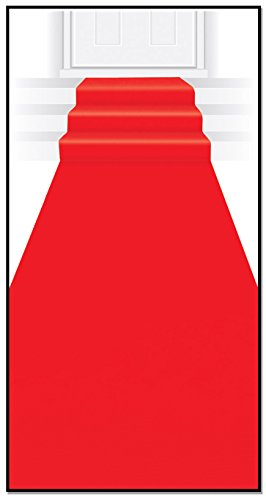 Beistle 50087 red Carpet Aisle Runner, 24-Inch by 15-Feet, -
