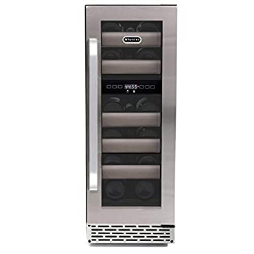 Whynter BWR-171DS 17 Bottle Dual Zone Built Wine Refrigerators Elite Series with Seamless Stainless Steel Doors,