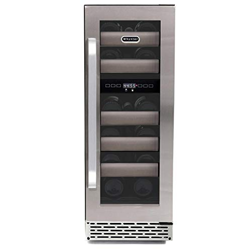 Whynter BWR-171DS 17 Bottle Dual Zone Built Wine Refrigerators - Elite Series with Seamless Stainless Steel Doors,