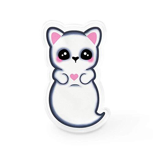 Amazon Com Kawaii Ghost Cat Lapel Pin Creepy Cute Pastel Goth