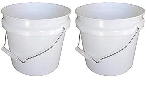 Leaktite 744456 1-Gallon White Plastic Pail Paint Pail/Container (Twо Расk) by Leaktite