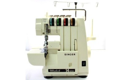 Singer Ultralock 14U234B 4 Thread Serger,Power Supply,Foot Pedal,All Accessories.