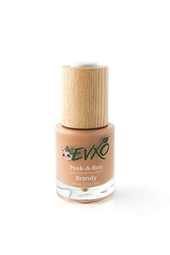 Natural Coverage Liquid Mineral Foundation Makeup - Organic Ingredients, Gluten-Free, Vegan, Cruelty-Free,...