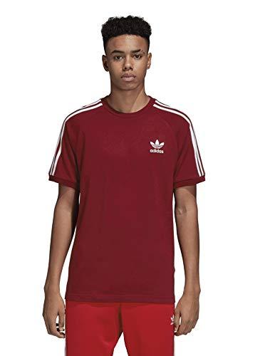 adidas Originals Men's 3-Stripes Tee, collegiate burgundy, 2XL