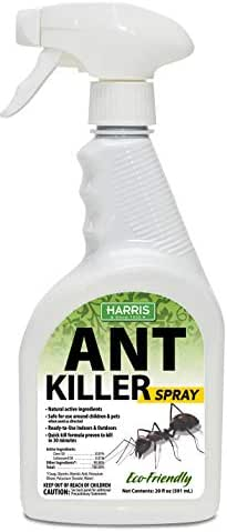 Harris New Ant Spray, Natural Plant Oil Based Quick Kill Formula for Indoor and Outdoor Use, 20oz