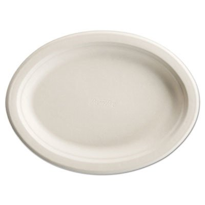 Chinet 25778 Paper Pro Oval Platters, 7 1/2 x 10 Inches, Beige, Pack of 125 (Case of 4 Packs)
