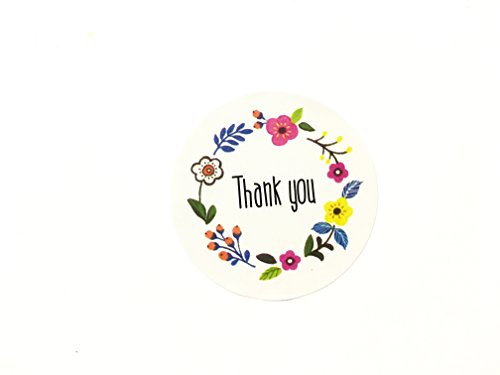 - Timemorry 120pcs Thank You Sticker/Floral Thank You Seal Labels/Round Adhesive Sticker Labels, Good for Handmade Cookie Bakery Candy Biscuits Dessert Bags Envelope Packaging Tags