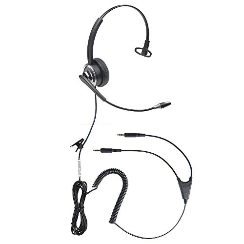 Microphone Voice Recognition Software - ECS WordCommander 3.5 mm Dual Plug Voice Recognition Headset for Dictation