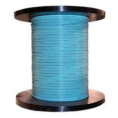 Price comparison product image Dealsjungle 2 Fiber Indoor Distribution Fiber Optic Cable, Multimode, 50/125, OM3, 10 Gbit, Aqua, Riser Rated, Spool, 1000 foot
