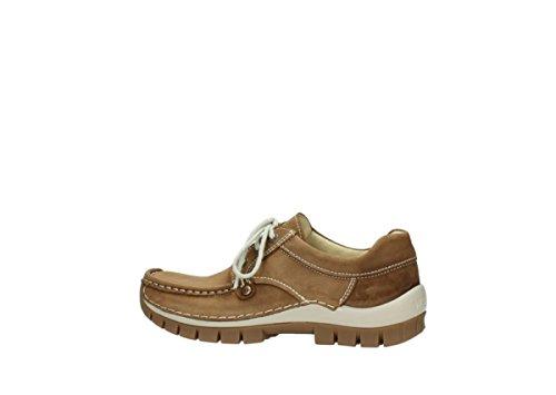 Para 141 Zapatos Mujer Claro 4708 Wolky Cordones Marrón De qXHU1wxP