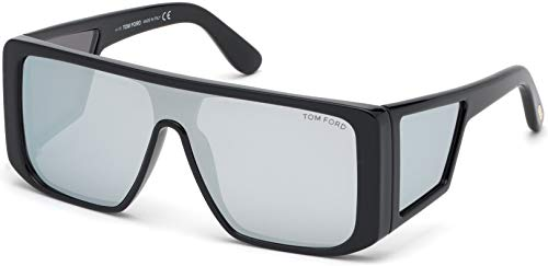 (Sunglasses Tom Ford FT 0710 Atticus 01C shiny black/smoke mirror)