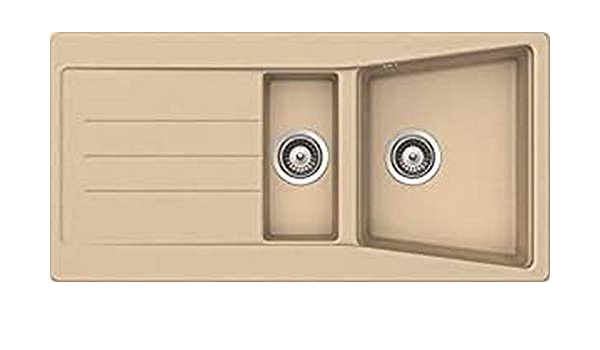 respekta by Schock SEATTLE100X50B Fregadero Color Beige 100x50 cm