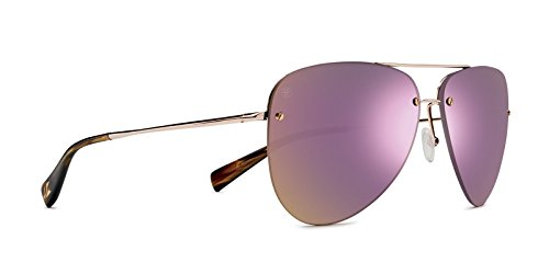 Kaenon Adult Mather Sunglasses, Gold/Tortoise / Rose Gold Mirror, One Size Fits All