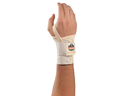 Ergodyne ProFlex 4000 Single Strap Wrist Support, Tan- Small, Right Hand