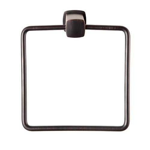 Baldwin 3894 Miami Style Towel Ring from the Prestige Collection, Venetian Bronze (Towel Hardware Baldwin Ring)