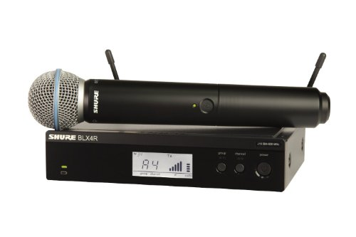 Shure BLX24R/B58 Handheld Wireless System with BETA58A Vocal Microphone, Rack Mount, H9 from Shure