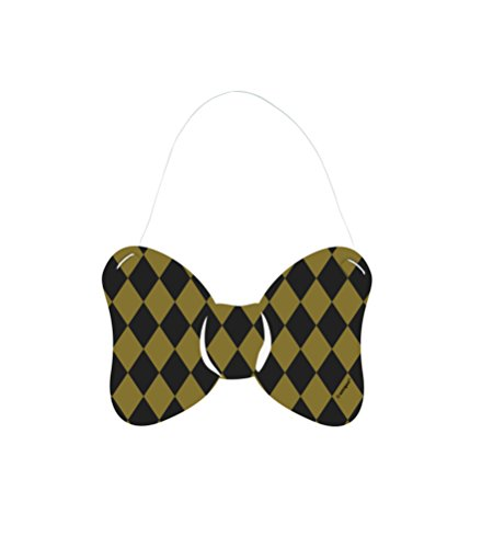 - Silver and Gold Paper Bow Ties, 6ct