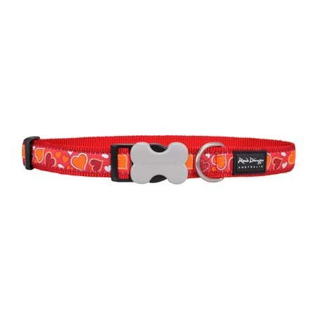 Red Dingo Breezy Love Red XS Dog Collar