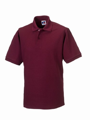 Russels Workwear - Polo -  - Polo - Col polo - Manches courtes Homme -  Rouge - Bordeaux - X-small