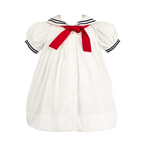 Petit Ami Baby Girls' Nautical Dress with Collar, 3 Months, ()