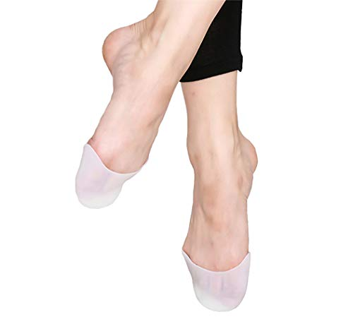 DANCEYOU Silicone Gel Toe Pads, Ouch Pouch Pointe Ballet Dance Shoe Toe Protector Gel Toe Cap for Athlete, One Size from DANCEYOU