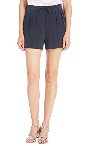LILYSILK Women's Silk Shorts Real Authentic 23MM Elasticized Drawstring Waist Pockets Bottoms Navy Blue XXL/18-20 by LilySilk