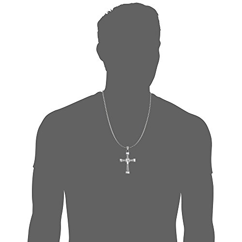 OCARLY 925 Fast and Furious Dominic Toretto's Cross Pendant Necklace Vin Diesel, 925 Cross Necklace Pendant Jewelry by OCARLY (Image #4)