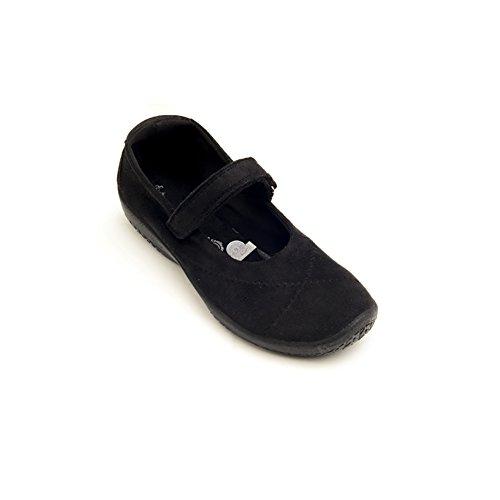 Arcopedico 4271 L18 Womens Mary Jane Flats, Black Suede, Size - 43