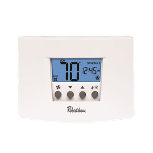 Robertshaw RS5220 Programmable Thermostat 2 Heat/2 Cool, 24-volt Ac With Battery Backup Or 3-volt Dc