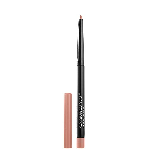 Maybelline Makeup Color Sensational Shaping Lip Liner, Nude Whisperer, Nude Lip Liner, 0.01 oz