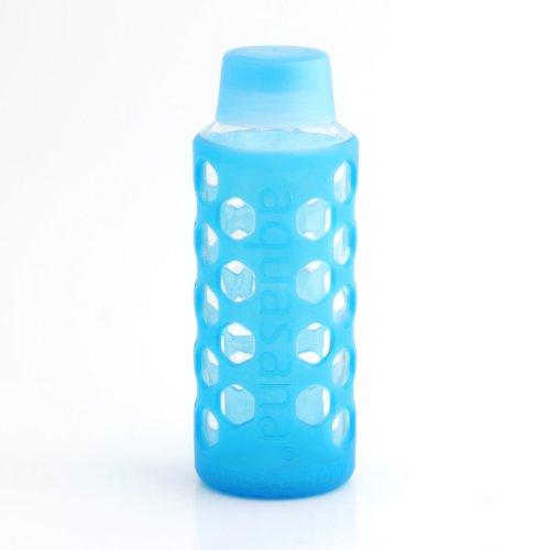 Aquasana AQ-6006-BLU-TR 18-Ounce Glass Water Bottle with ...