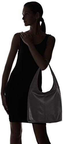 à in fermeture Made 100 en CTM cuir sac véritable main Noir la à éclair bandoulière Italy sac 41x55x12cm femme Nero dans q4WwfEC