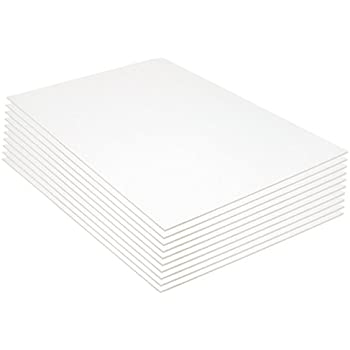 Pacon Foam Board, 20 x 30 Inches, 3/16-Inch Thick, White, 10 Sheets (5553)