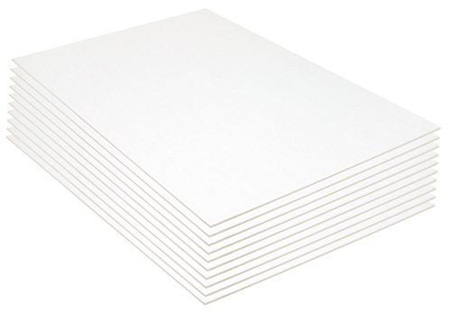 Pacon Foam Board, 20 x 30 Inches, 3/16-Inch Thick, White, 10
