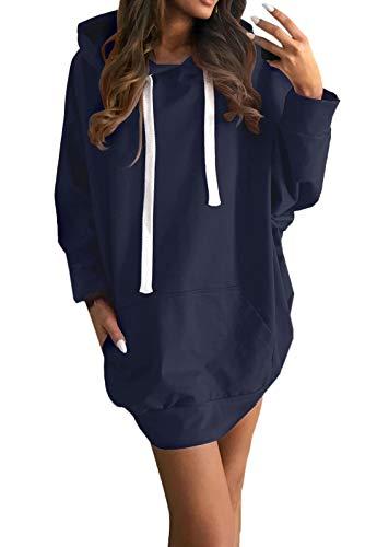 Tunica Donne Maglione Primavera con da Partito Camicia Jumper e Sweatshirt Felpe Lunga Manica Vestito Autunno Moda Tops Casual Mini Lungo Hoodie Pullover Vestiti Cappuccio qRHfRE