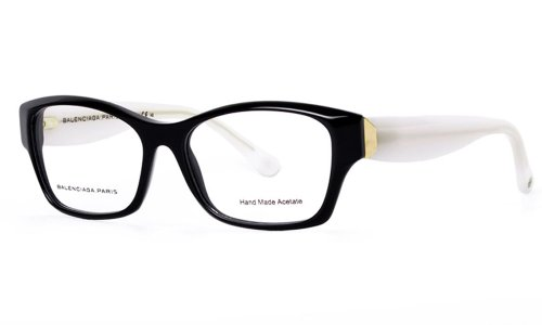 Opal Milk (Balenciaga BAL 0074 Eyeglasses - Black Opal Milk (ITP) 51mm)
