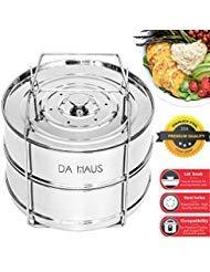 Da Haus Stackable Steamer Insert Pans - Instant Pot Insert 6 qt, 8 qt and 5 qt Insert Pans for Pressure Cooker. Instant Pot Stackable Pans