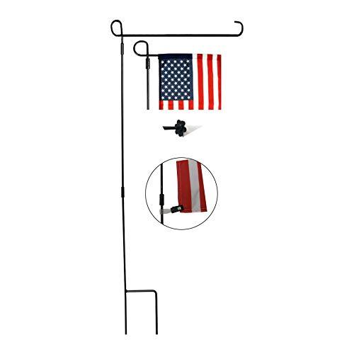 SPORT BEATS Garden Flag Stand 12 x 18 Garden Flag Pole Garden Flag Holder Metal Wrought Iron