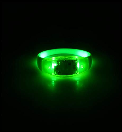 Clearance Sale!DEESEE(TM)Voice Activated Sound Control Led Flashing Bracelet Bangle Wristband for Night Club Party (Green)