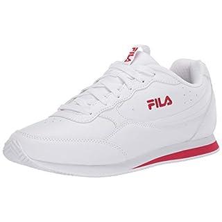 Fila mens Fila Panzia Men's Sneaker, White/Fila Red/White, 9 US