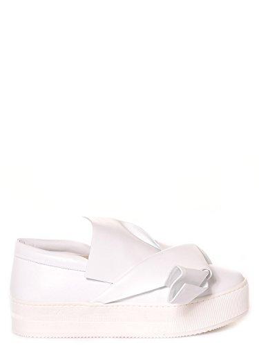 Zapatillas Blanco Mujer 8006white N°21 Slip on Goma OAHIE0Hwxq