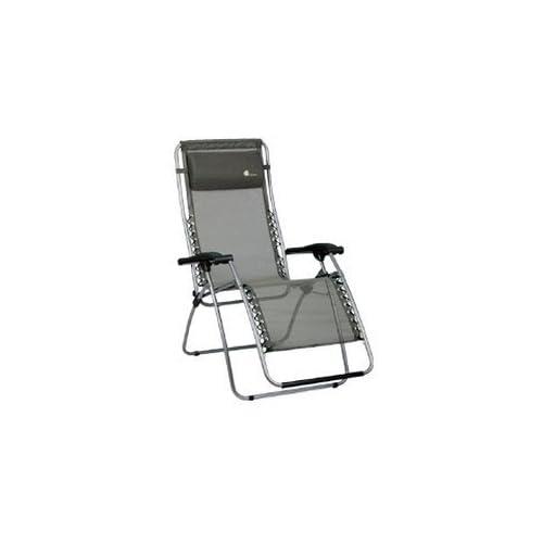 stabielo-Chaise de camping-Fauteuil relax-Ajustable en continu -Housse sur federungs système avec lacets Structure en acier argent- 20... 4239792dc849