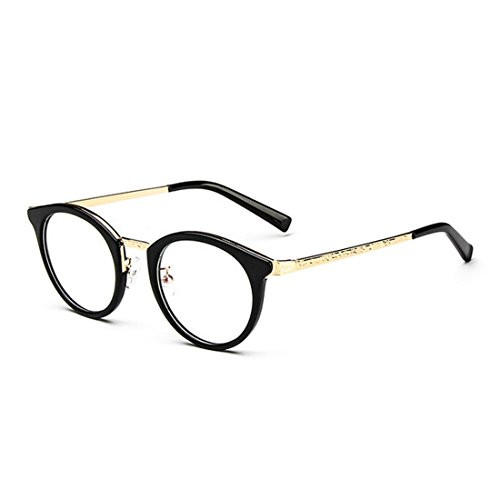 D.King Vintage Round Glasses Frames Optical Eyeglasses Clear Lens Fashion Glasses - Face Round Best Frames For Spectacle