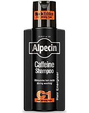 Alpecin Cafeïne Shampoo C1 Black met Nieuwe Geur 1x 250ml | Natuurlijke Haargroei Shampoo voor Mannen | Energizer voor Sterk Haar | Haarverzorging voor Mannen Made in Germany