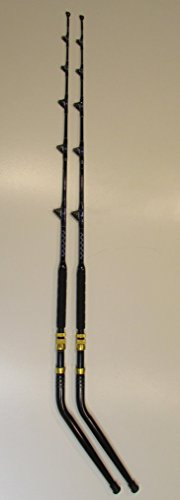 (XCALIBER MARINE PAIR OF PRO TOURNAMENT SERIES 6' 30-50 lb SALTWATER TROLLING RODS (BENT BUTT))
