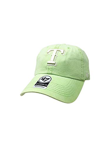 - '47 Texas Rangers Brand Clean Up Adjustable Back Hat MLB Baseball Curve Brim Cap (One Size, Green Summerland)
