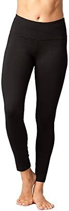 90 Degree By Reflex Tummy Control Super Compression Leggings - Hypertek Yoga Pants - Black - Large
