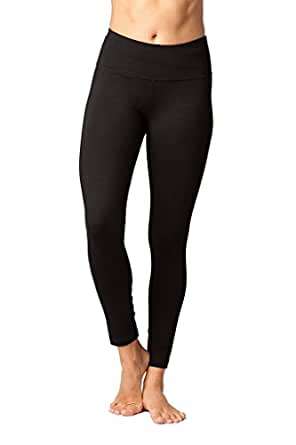 90 Degree By Reflex High Waist Compression Tummy Control Hypertek Leggings - Black - XS